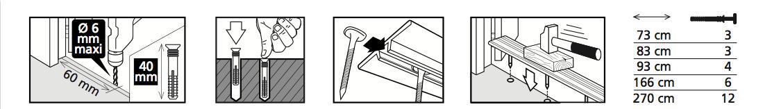 Barre de seuil or dinafix dinac for Poser une barre de seuil